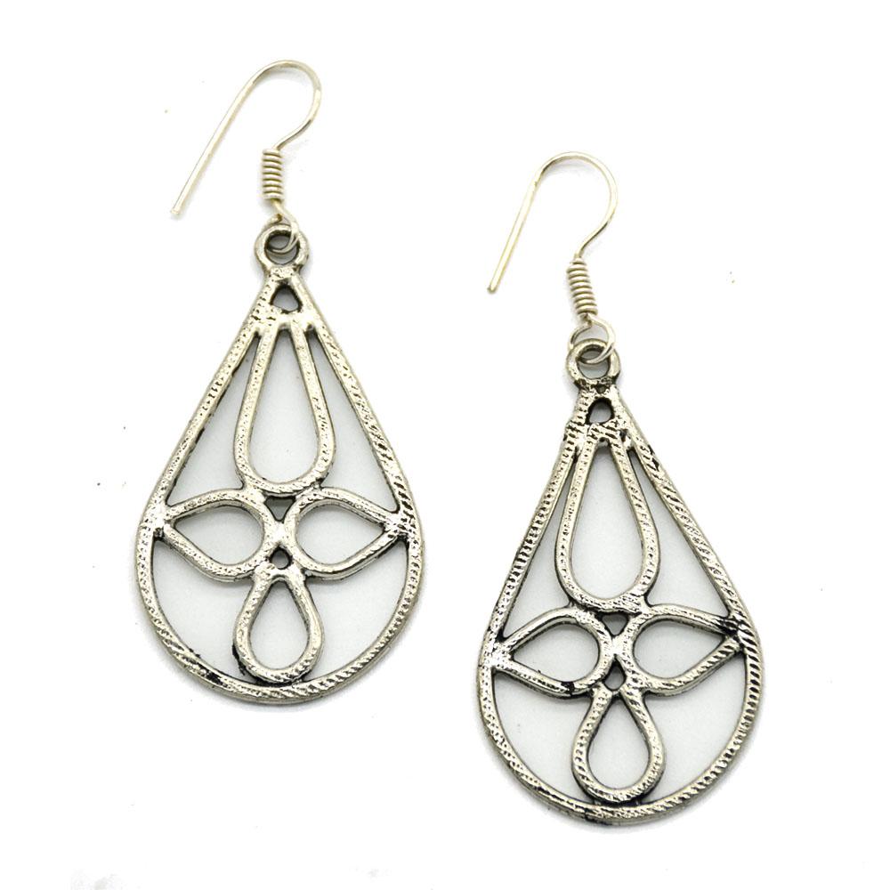 Oval Drops Earrings