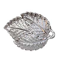 Betel Leaf Silver Plated Fruit Tray