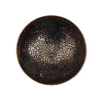 MFA-907,Peacock Blue Multed Meena Work Small Fruit Bowl a