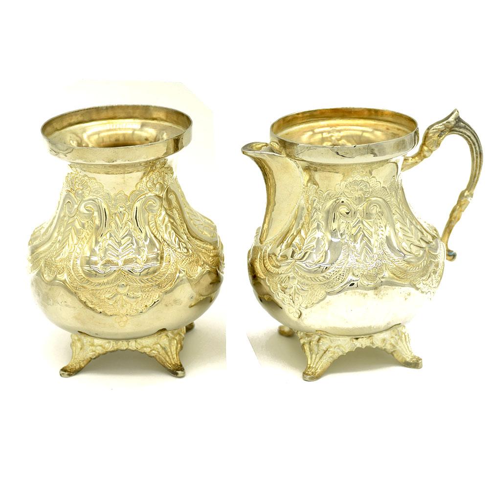 MMsA-1302,Taj Silver Plated Milk & Sugar Pot