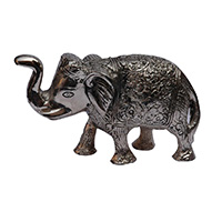 MAA-602,Brass Silver Plated Medium Elephant-a