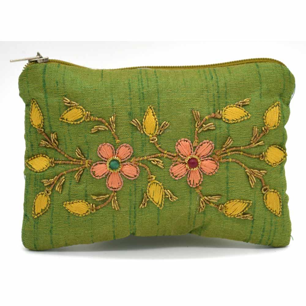 Zari Thread Green Wallet