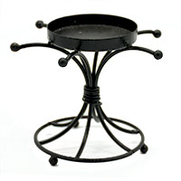 Knot Black Wrought Iron Candle Stand
