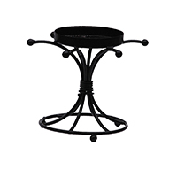 MCA-1113,Knot Black Wrought Iron Candle Stand a