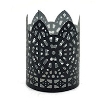 King Black Jali Tea Light Holder