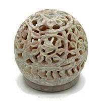 Stone Flower Work Stand Tea Light Holder
