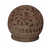 MCA-1143,Stone Flower Work Stand Tea Light Holder a
