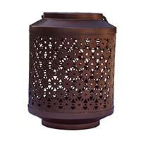 MCA-1149,Scallop Copper Tea Light Holder-a