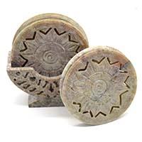 MCoA-1706,Star Stone Coasters-Set of 6-a