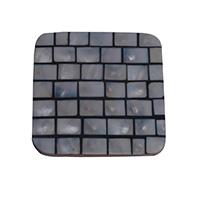 MCoA-1715,Shell Black & White Coaster,4x4-a