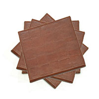 Brown Labyrinth Coasters, Set of 4