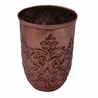 MGlA-803, Queen Flower Work Copper Oxodise water glass-a