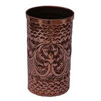 MGlA-805,Indian Bridal Flower Work Copper Milk Glass a