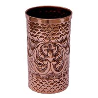 Traditional Floral Motifs Embossed Glass