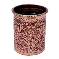 Hand Carved Floral Motifs Glass