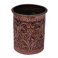 MGlA-806,Indian Bridal Flower Work Copper Milk Glass a