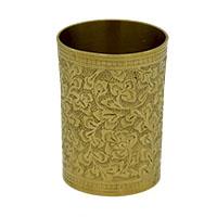 Indian Bridal Flower Work Brass Glass