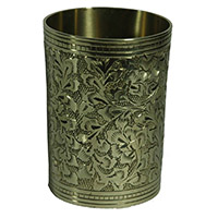 MGlA-807,Indian Bridal Flower Work Brass Oxodise Milk Glass a