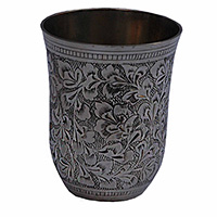 MGlA-811,Flowers Copper Water Glass a