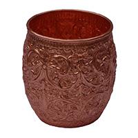 MGlA-812,Jodha Flower Work Copper Milk Glass a