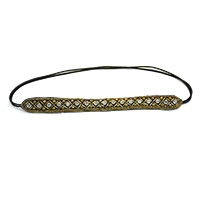MHA-505,Brown Beaded HeadBand-a