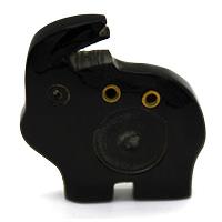 MIA-2101,Elephant Incense Holder-Black-a