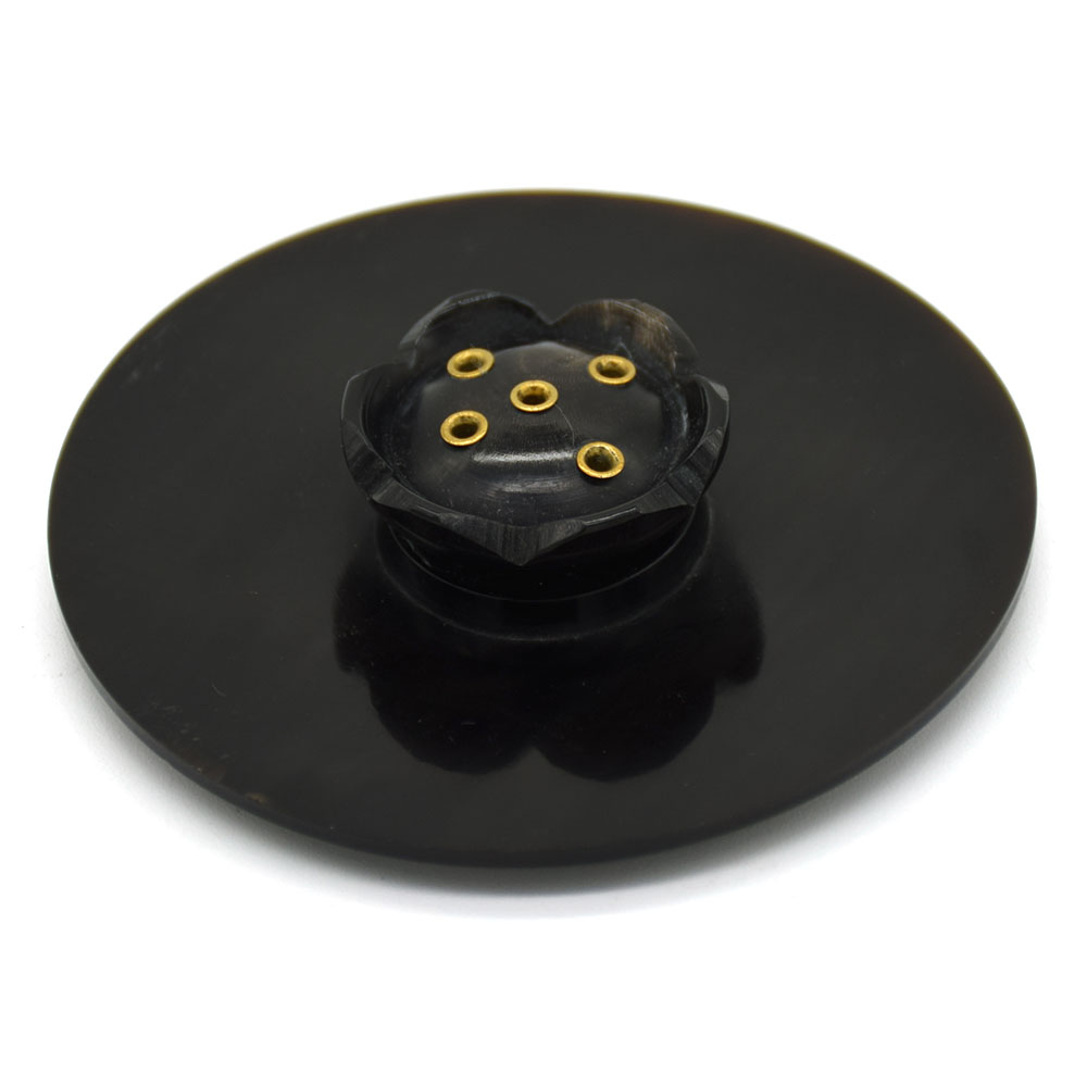 Round Incense Holder-Black