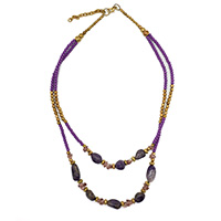 MNA-102,Amethyst Rose Gold Necklace-a a