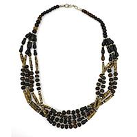 MNA-105,Tribal Bone Necklace a
