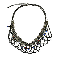 MNA-107A,Black Oxodise Necklace Lead Free a