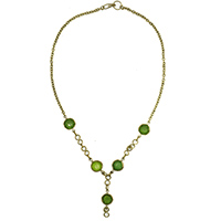 MNA-111A,Green Y Glass Necklace a