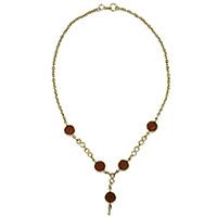 MNA-115,Amba Glass Cut Necklace-a