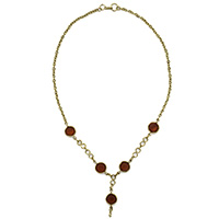 Brown Glass Beads Necklace