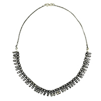 MNA-125,Silver Oxidised Necklace a