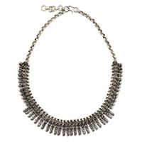 MNA-140,Sajai Rajasthani Silver Oxidised Necklace,Nickel Free-a