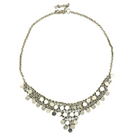MNA-195A,Queen Silver Plated Small Coin Necklace,Nickel Free a
