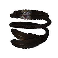 MNpA-1506,Leave Wire Copper Oxodise Napkin Ring-a