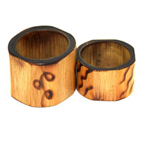 Wooden Napkin Rings-Set of 2
