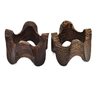 Wood Wavy Napkin Rings-Set of 2