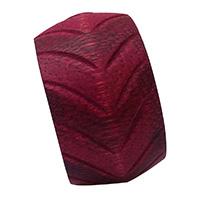 MNpA-1518,Round Carving Pink Napkin Ring-a