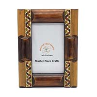 Wooden Brown & Natural Painted Photo Frame