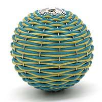 MPwA-1804,Cotton Thread Bunai Paper Weight Ball-aa