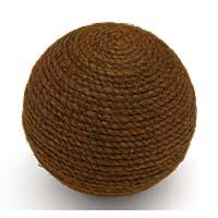 MPwA-1805,Jute Brown Round Paper Weight Ball1-a