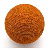 MPwA-1806,Jute Mustard Paper Weight Ball1-a