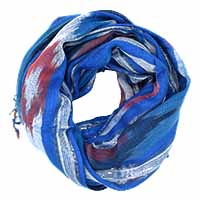 Blue Multed Print Scarf