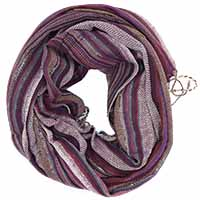 Purple Multed Printed  Scarf