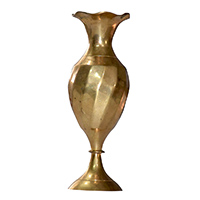 Brass Hammered Plain Flower Vase