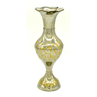 Silver Plated Golden Shade Flower Vase