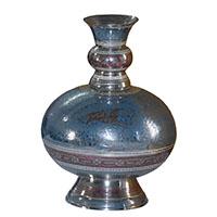 MVA-708A,Goglet Meena Work Brass Flower Vase-a