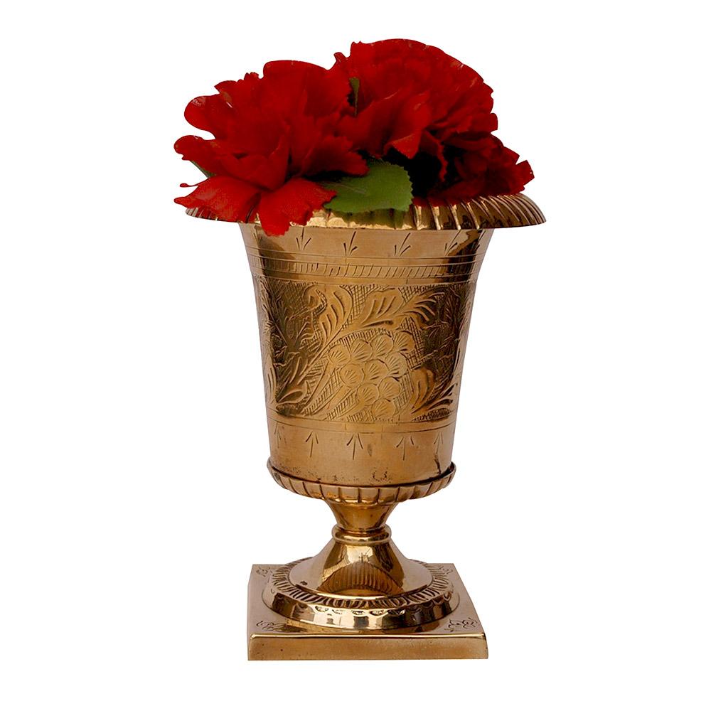 MVA-710,Mughal Brass Flower Vase2